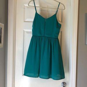 Green Everly Eyelet Dress